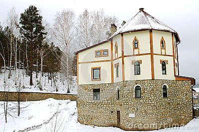 Stone house in mountains