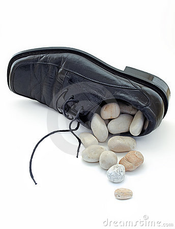 Free Stone In The Shoe Royalty Free Stock Image - 8838016