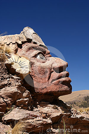 Stone Inca face