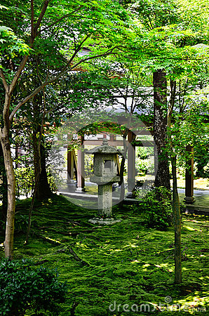 Free Stone Lantern Of Japanese Garden, Kyoto Japan. Stock Image - 74056931