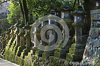 Stone lanterns Kasuga Taisha Shrine Nara Japan