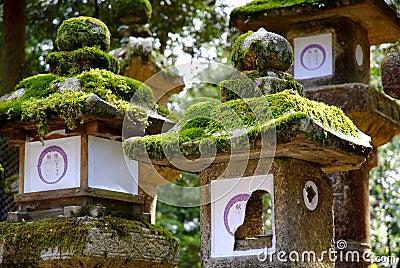 Stone Lanterns Nara, Japan