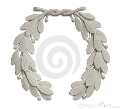 Free Stone Laurel Wreath Stock Images - 2379764