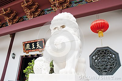 A stone lion in china