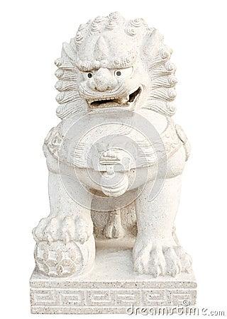 Stone lion statue