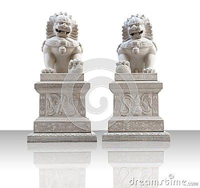 Free Stone Lions Stock Image - 17153891
