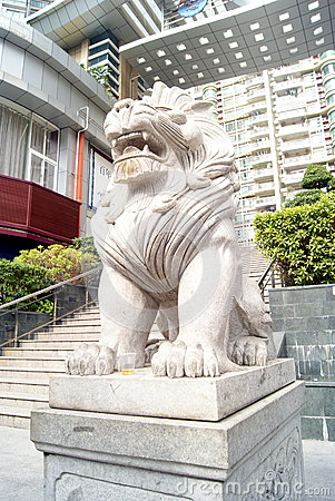 Stone lions