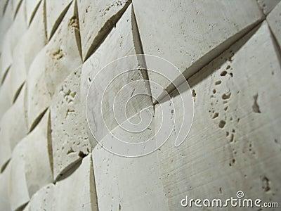 Stone mosaic wall