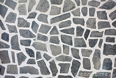 Stone mosaic wall texture background