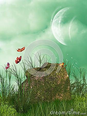 Free Stone Moss Stock Photography - 7632352