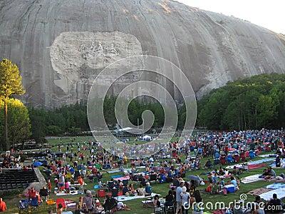 Stone Mountain, Georgia: Crowds gather Editorial Image