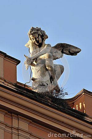 Stone Nymph Sculpture in Rome, Italy