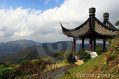 Stone pagoda on the top of mountain