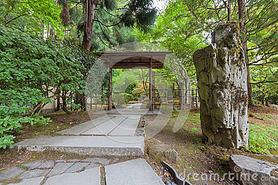 Stone path in japanese garden stock photo image 58957863 for Japanese garden structures wood