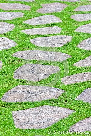 Free Stone Path On Green Grass Stock Image - 20835031