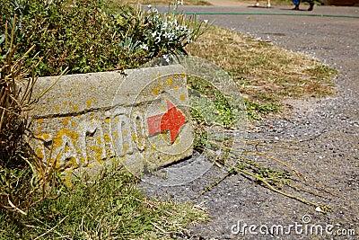 A stone Path signal
