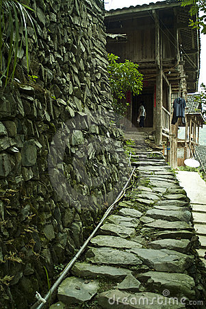 Stone path to house