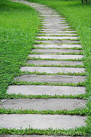 Free Stone Path With Green Grass Stock Images - 16234104