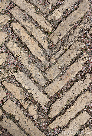 Stone pattern on land roadway