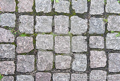 Stone pavement in Europe