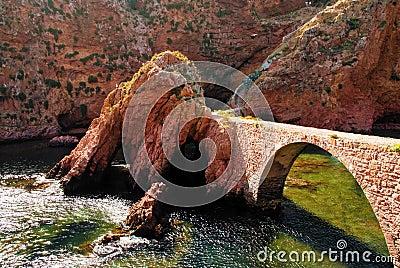 Pedestrian Stone bridge