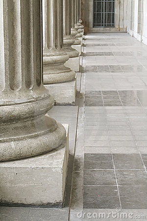 Stone Pillars outside the Parliament Law Building