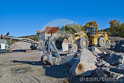 Stone pinch and wheel loads on brekke quarries