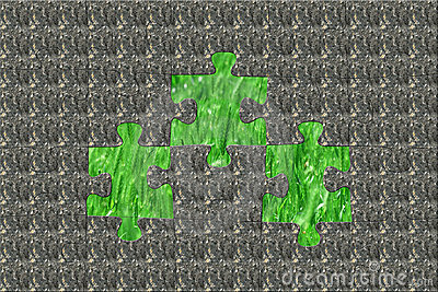 Stone puzzle hiding the pure nature