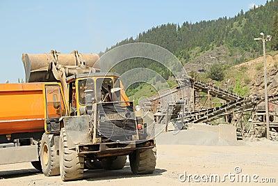 Stone quarry cargo