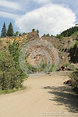 Stone quarry lanscape