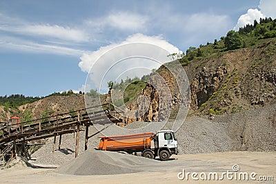 Stone quarry scenery
