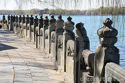 Stone railing in Summer Palace