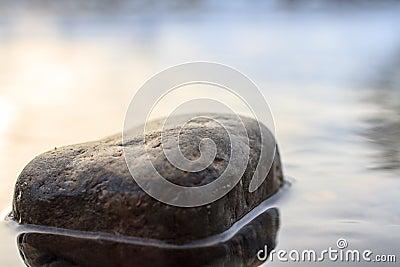 Stone in a river