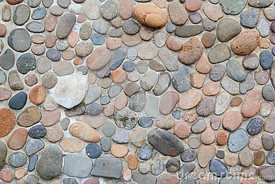 Stone  rock  floor pattern