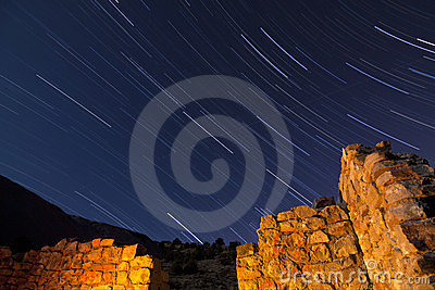 Stone Ruin Star Trails
