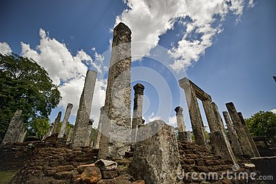 Stone ruins of royal palace