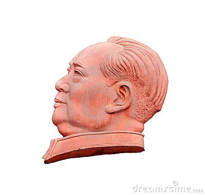 Stone sculpture of Mao Zedong