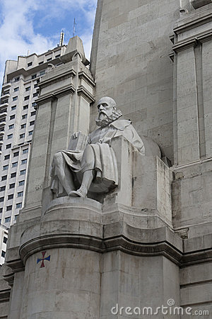 Stone sculpture of Miguel de Cervantes