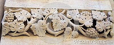 Stone sculptured vine.