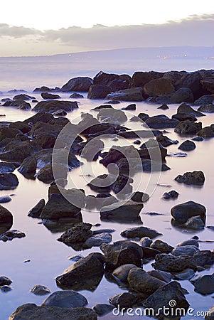 The stone in the sea landscape