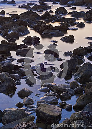 The stone in the sea water