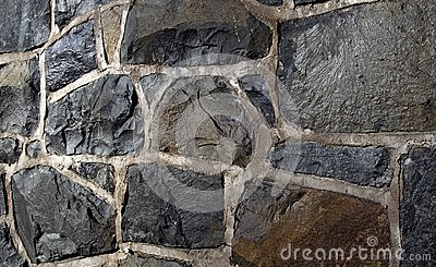 Stone shapes in urban exterior scene