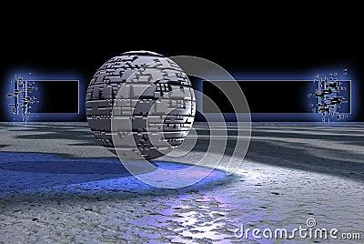 Stone sphere banner