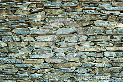 Stone stack wall