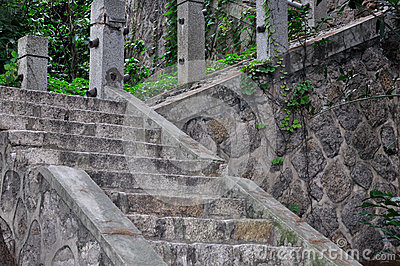 Stone stair in devious and upward