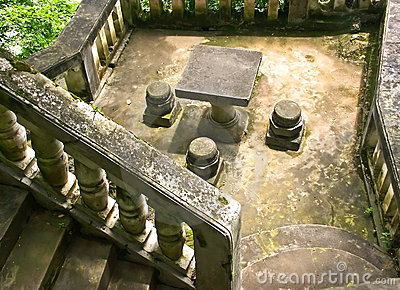 Stone stairs and resting area