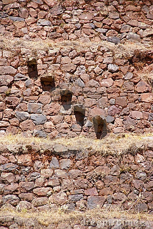 Stone stairsteps, Inca stone walls