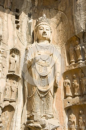 Stone statue of buddha