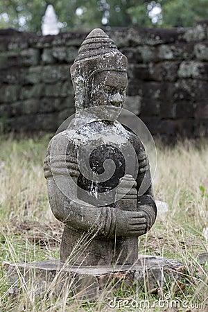 Stone statue in cambodian temple