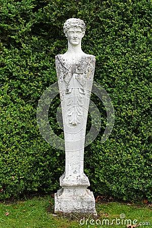 Free Stone Statue, Mottisfont Abbey, Hampshire, England. Royalty Free Stock Photography - 71316027